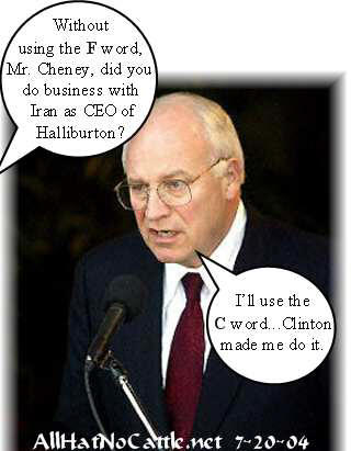 Dick cheney haliburton iran iraq