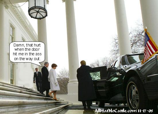Bush escapes